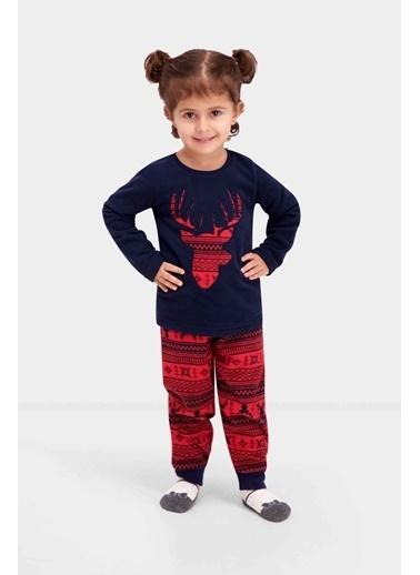 Roly Poly Rolypoly Deer Head Kız Çocuk Polar Pijama Takımı Lacivert Lacivert